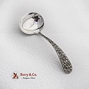 Vintage Rose Gravy Ladle Stieff Sterling Silver 1940