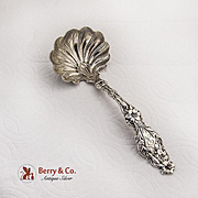 Lily Gravy Ladle Whiting Patent Applied For Sterling Silver 1902