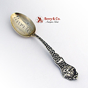 Santa Ana California Souvenir Spoon Engraved Gilt Bowl Paye And Baker Sterling 1900