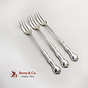 Rondo Cocktail Forks Set Sterling Silver 1951