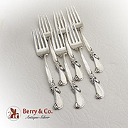 Waltz Of Spring Salad Forks Set Wallace Sterling Silver 1952