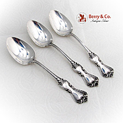Marlborough Serving Spoons Set Reed And Barton Sterling Silver 1906