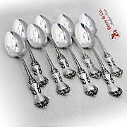 Marlborough Dessert Oval Soup Spoons Reed And Barton Sterling Silver 1906