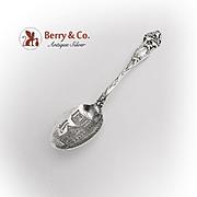 Watson Lily Souvenir Spoon Engraved Bowl Sterling Silver