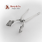 Acanthus Sugar Tongs Nips Georg Jensen Sterling Silver 1920