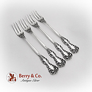 Revere Cocktail Forks Set International Sterling Silver 1898