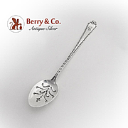 Madam Morris Pierced Olive Spoon Short Handle Whiting Sterling Silver 1909
