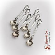 Chantilly Salt Spoons Set Gorham Sterling Silver 1950