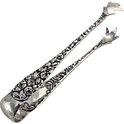 Baltimore Rose Large Sugar Tongs Schofield Sterling Silver