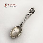 Jack Rose Portland Oregon Souvenir Spoon Paye And Baker Sterling Silver