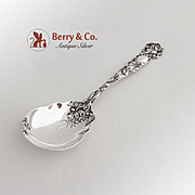 Bridal Rose Large Jelly Spoon Alvin Sterling Silver 1903