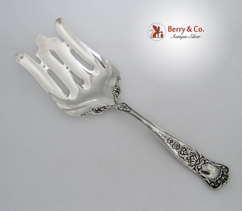 Asparagus Serving Fork Maryland Gorham 1896 Sterling Silver Monogram S
