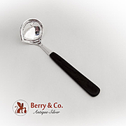 Hand Made Hammered Gravy Ladle Rosewood Handle Sterling Silver Peru