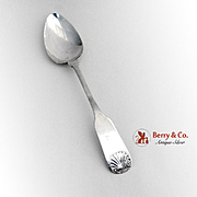 Shell Fiddle Tipt Tablespoon Henry Harland Coin Silver 1830