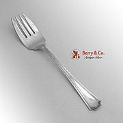 Fairfax Salad Fork Durgin Gorham Sterling Silver Pat 1910
