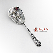Stieff Rose Strawberry Spoon Repousse Bowl Sterling Silver 1940