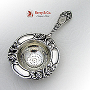 Rose Pattern Tea Strainer Norwegian 830 Silver 1930