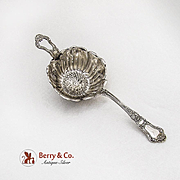 Old Baronial Tea Strainer Blossom Bowl Gorham Sterling Silver Pat 1898