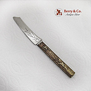 Gorham Japanese Fruit Knife Engraved Blade Brass Sterling Silver 1880