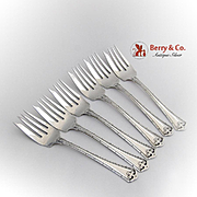 Carmel Salad Forks Set Wallace Sterling Silver Patented 1912