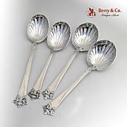 Anitra Serving Spoons Set Fluted Bowls Magnus Aase 830 Standard Silver