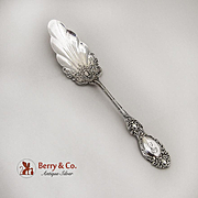 Lucerne Large Jelly Knife Wallace Sterling Silver 1893 Monogrammed