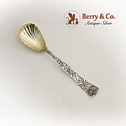 Tiffany And Co Raspberry Vine Preserve Spoon Gilt Bowl Sterling Silver