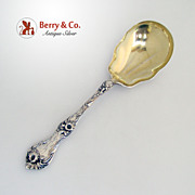 Les Cinq Fleurs Berry Spoon Reed Barton Sterling Silver 1900 Monogram MR