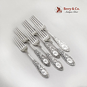 Arabesque Regular Forks Set Whiting Mfg Co Sterling Silver Pat 1875