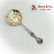 Daffodil Bon Bon Candy Nut Spoon Gilt Pierced Bowl Sterling Silver