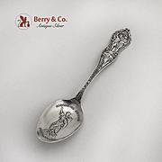 Portland Expo Souvenir Spoon Sacajawea Embossed Bowl Butterfield Bros Sterling