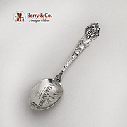 Grape Fruit Souvenir Spoon Burlington Iowa Bowl Paye And Baker Sterling 1900