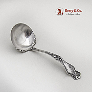 Cherry Blossom Sauce Ladle Blackinton Sterling Silver 1900