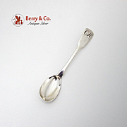 Old English Egg Spoon Fiddle Shape Sterling Silver Late 18th Early 19th Century