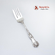 King George Cold Meat Fork Gorham Sterling Silver Pat 1894