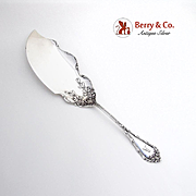 Madame Royale Fish Slice Server Durgin Sterling Silver 1900