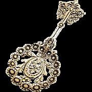 Ornate Openwork Bon Bon Spoon George W Shiebler Gilt Sterling Silver