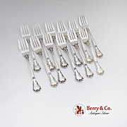 Chantilly Salad Forks Set Gorham Sterling Silver 1895