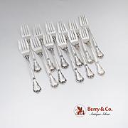 Chantilly Salad Forks Set Gorham Sterling Silver 1895