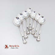 Chantilly Cream Soup Spoons Set Gorham Sterling Silver 1895