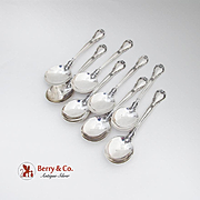 Gorham Chantilly Cream Soup Spoons Set Sterling Silver 1895