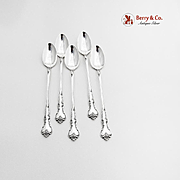 Savannah Iced Teaspoons Set Reed And Barton Sterling Silver 1962