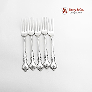Savannah Place Forks Set Reed And Barton Sterling Silver 1962