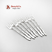 Madeira Cocktail Seafood Forks Set Towle Sterling Silver 1948