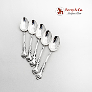 Savannah Demitasse Spoons Set Reed And Barton Sterling Silver 1962