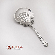Saxon Bon Bon Candy Nut Spoon Wallace Sterling Silver 1910