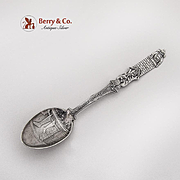 Figural Christmas Demitasse Spoon Embossed Bowl Gorham Sterling Silver 1895