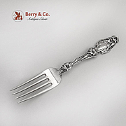 Lily Dessert Fork Whiting Mfg Co Sterling Silver Patented 1902