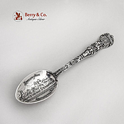 Alvarado Hotel Souvenir Spoon New Mexico Embossed Bowl Watson Sterling Silver