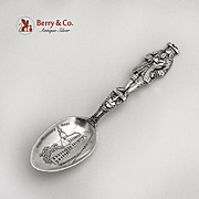 William Penn Full Figure Souvenir Spoon Shepard Mfg Co Sterling Silver 1895